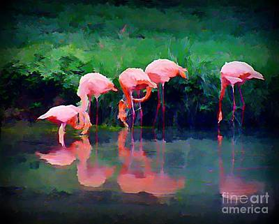 Art In Halifax Digital Art - Pink Flamingos by John Malone