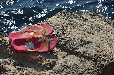 Photograph - Pink Flip Flop by Dany Lison