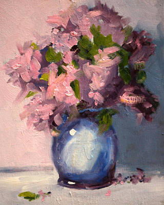 Painting - Pink Floral by Nancy Merkle