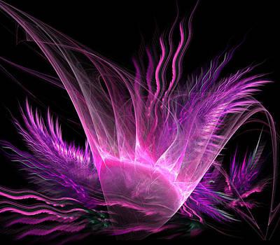 Pink Flower And Plants Art Print by Bijan Studio