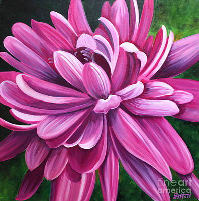 Painting - Pink Flower Fluff by Debbie Hart