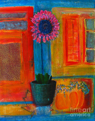 Art Print featuring the painting Pink Flower by Patricia Januszkiewicz