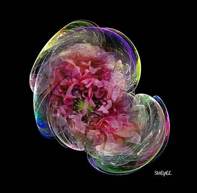 Digital Art - Pink Flower by Sueyel Grace