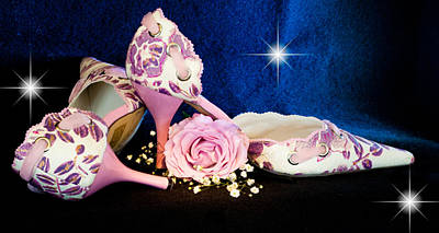 Photograph - Pink Flower Pumps by Patti Deters
