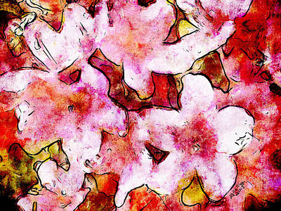 Art Print featuring the painting Pink Flowers 2 by Greg Collins