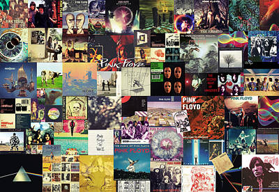Rock And Roll Royalty-Free and Rights-Managed Images - Pink Floyd Collage I by Zapista