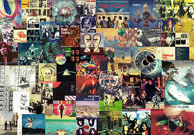 Roll Wall Art - Digital Art - Pink Floyd Collage II by Zapista