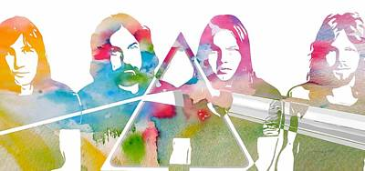 Music Mixed Media - Pink Floyd by Dan Sproul