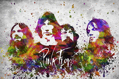 Richard Drawing - Pink Floyd In Color by Aged Pixel