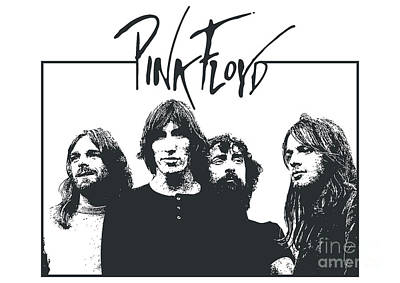 Famous Artist Digital Art - Pink Floyd No.05 by Caio Caldas