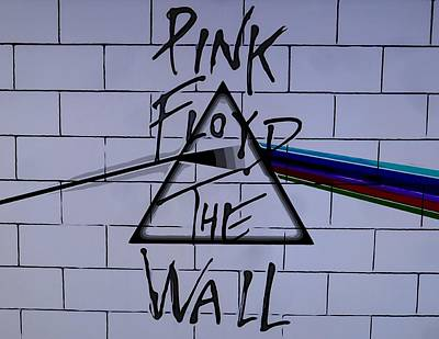 Music Royalty-Free and Rights-Managed Images - Pink Floyd Poster by Dan Sproul