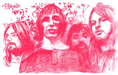 Atom Drawing - Pink Floyd by Rodger Larson