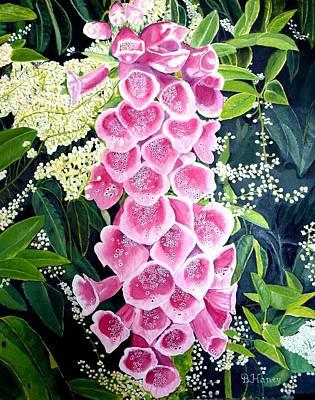 Pink Foxgloves Original by Brian Haney