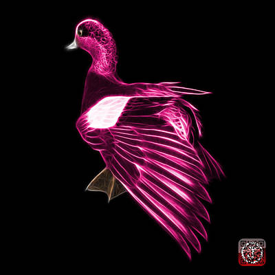Mixed Media - Pink Fractal Wigeon 7702 - Bb by James Ahn