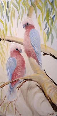 Pink Gallah's Art Print
