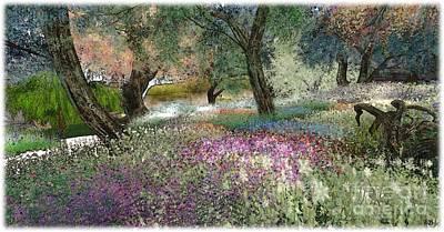 Pink Garden Art Print by Susanne Baumann