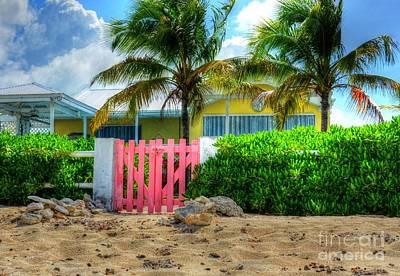 Grand Turk Island Photograph - Pink Gate by Debbi Granruth