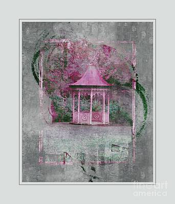 Kitchen Food And Drink Signs - Pink Gazebo by Kathleen Struckle