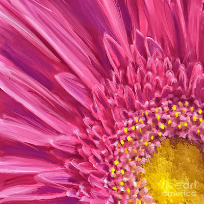 Mixed Media - Pink Gerbera by Andrea Auletta