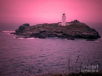 Chris Walter Rock N Roll - Pink Godrevy Lighthouse by Lisa PB