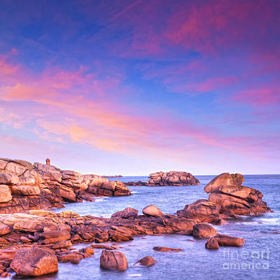 Photograph - Pink Granite Coast Brittany France by Colin and Linda McKie