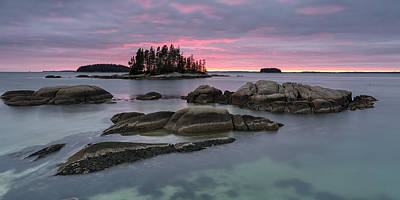 Penobscot Bay Photograph - Pink Granite Glow by Patrick Downey