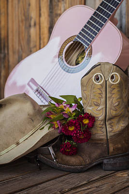 Photograph - Pink Guitar by Amber Kresge