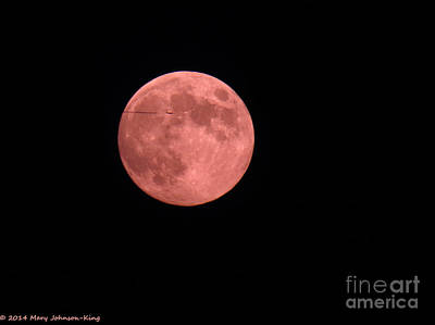 Mary King Photograph - Pink Harvest Moon by Mary  King