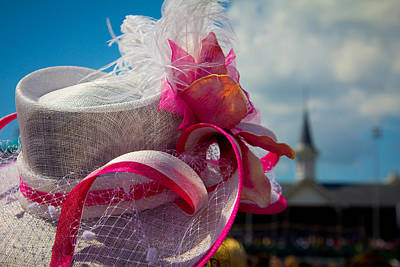 Photograph - Pink Hat At Churchill Downs  by John McGraw