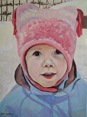 Painting - Pink Hat by Edith Hunsberger