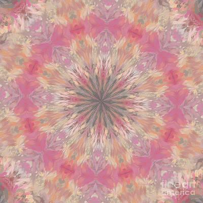 Healing Art Digital Art - Pink Healing Mandala by Deborah Benoit