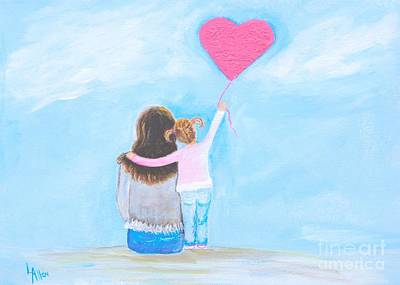 Painting - Pink Heart Balloon by Leslie Allen
