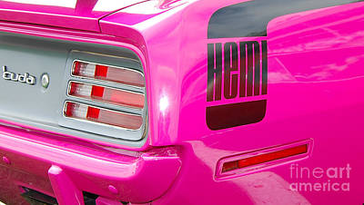 Photograph - pink Hemi 'Cuda by Mark Spearman
