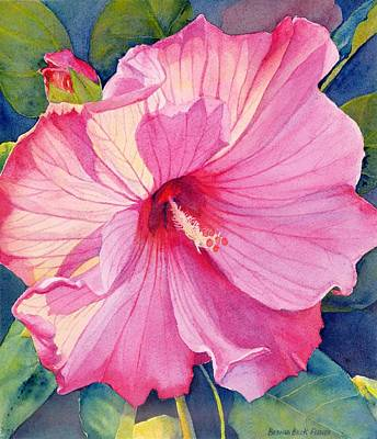 Painting - Pink Hibiscus by Brenda Beck Fisher