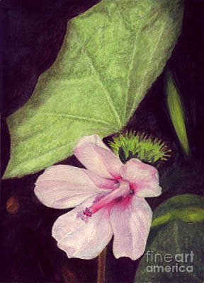 Art Print featuring the painting Pink Hibiscus by Mukta Gupta