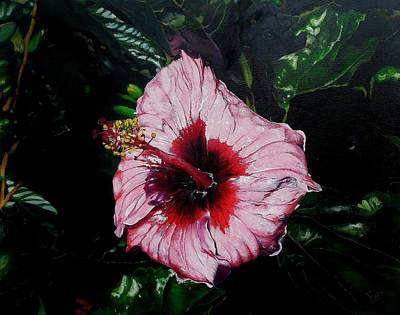 Painting - Pink Hibiscus by Raymond Perez