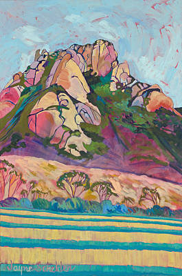 Pink Hollister Peak Art Print