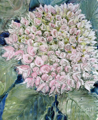 Painting - Pink Hydrangea by Louise Peardon