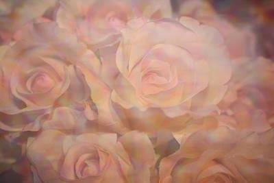 Pink Impressionistic Roses Original by Dora Sofia Caputo Photographic Art and Design