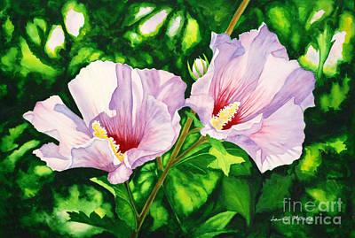 Watercolor Painting - Pink Ladies by Laura Hwang