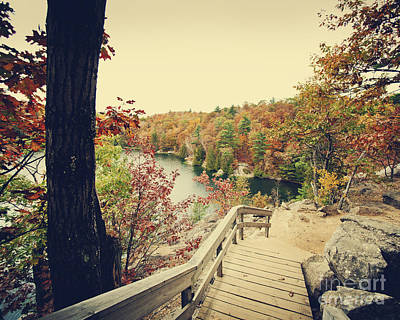 Gatineau Park Photograph - Pink Lake by Audrey Wilkie