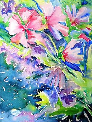 Pink Lavatera Profusion Art Print