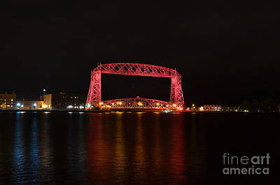 Photograph - Pink Lift Bridge by Whispering Feather Gallery