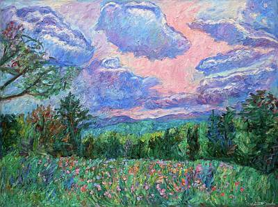 Wildflowers Painting - Pink Light by Kendall Kessler