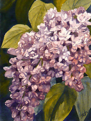 Painting - Pink Lilacs by Janet Zeh