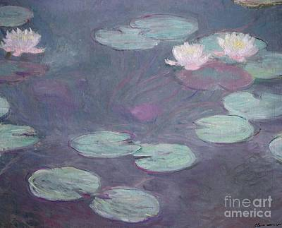 Lotus Leaves Painting - Pink Lilies by Claude Monet