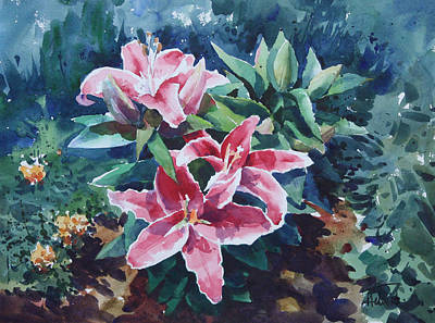 Painting - Pink Lilly by Helal Uddin