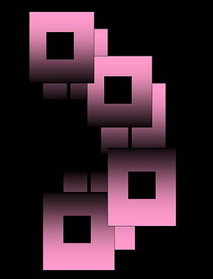 Art Print featuring the digital art Pink Link by Gayle Price Thomas
