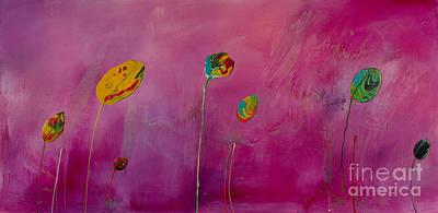 Painting - Pink Lollipop Flower by Laura Warburton