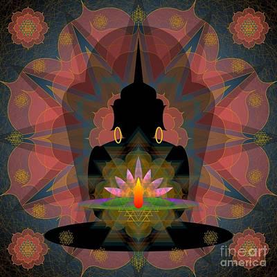 Digital Art - Pink Lotus Buddha by Kathryn Strick